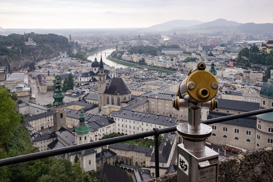 Über den Dächern der Satdt Salzburg