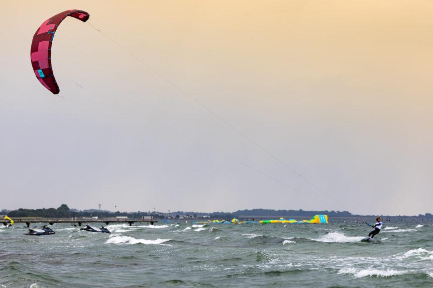 Kitesurfer Matchu Lopes auf Fehmarn