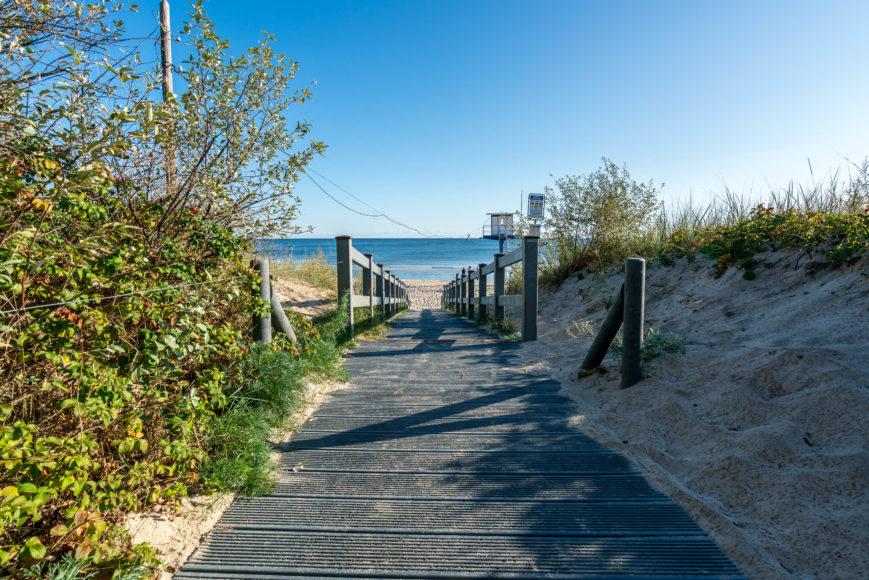 Einer der Wege zum Strand Heringsdorf