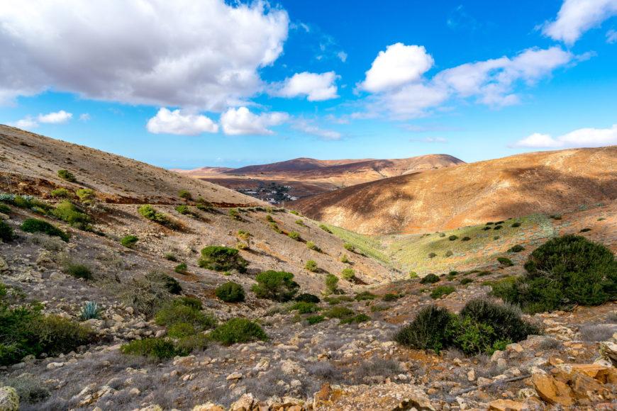 Aussicht auf dem Camino la Cuesta de Antigua